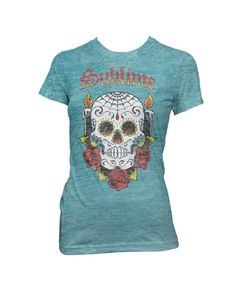 Sublime Skull Womens T-Shirt - Guaranteed Authentic.  Fast Shipping.
