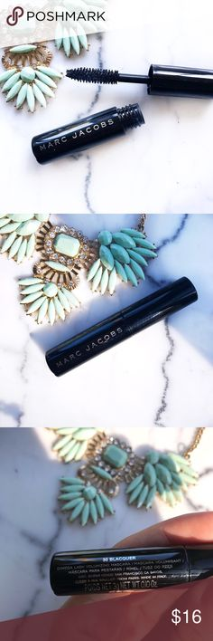 🎊HP🎊 MARC JACOBS Omega Mascara Give your lashes major volume with Volume Mascara. It creates the look of false lashes in an instant, delivering 1,800 percent more volume in just three strokes. The lash-maximizing brush makes eyes look larger, and the lush mascara formula is smudge-proof, too. COLOR: BLACK SIZE: TRAVEL SIZE Brand new, never used   ✨ Bundle Discounts Available ✨ Reasonable Offers Welcome  ✨ No Trades Marc Jacobs Makeup Mascara