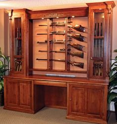 Amish Gun Cabinets at Timberline! 1-800-781-0260