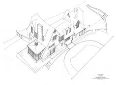 Sketches - Drawings - Chicago - Michael Abraham Architecture Exterior Sketches