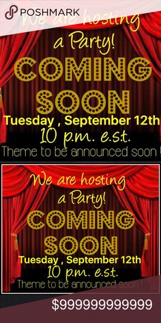 🎉WE ARE HOSTING A PARTY ! 🎉 WE ARE  CO HOSTING A PARTY! So excited! Please help us spread the word. September 12th 10pm eastern standard time. THEME TO BE ANNOUNCED SOON! 🎉🍾🎉🍾🎉🍾 Bags