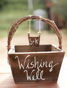 country rustic wishing well box for woodland wedding ideas #rusticweddings #weddingideas #elegantweddinginvites