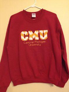 Team Spirit Sweatshirt - Central Michigan University on Etsy 1c4a31663