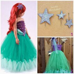 Special Halloween: 15 Costumes with TutuSpecial Halloween: 15 Costumes with Tutu Little Mermaid Birthday, Little Mermaid Parties, Little Mermaid Dresses, The Little Mermaid, Halloween Fun, Halloween Costumes, Princess Birthday, Tulle Dress, Party