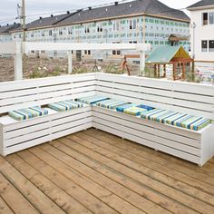 Patio Bench Doubles As Storage Bins. These Would Be Great Patio Solutions  For Us Mikee