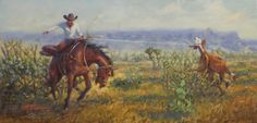Two Event Man, by Mike Capron; Texas Cowboy Art