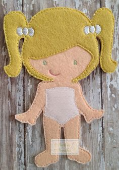 Felt Melissa Doll by NettiesNeedlesToo on Etsy, $7.00