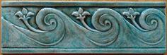 wave decorative handmade ceramic tile