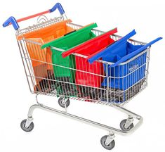 Shopping Checklist: How To Use Less Plastic – Best Reusable Bags And Cups Trolley Cart, Reusable Grocery Bags, One Bag, Take My Money, Grocery Store, Shopping Bag, Shopping Bags