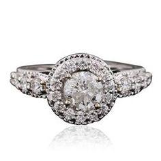 18KT White Gold 1.75ctw Diamond Ring - Longfellow Auctions