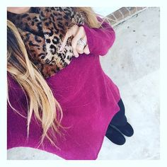 Brrrrr! Our door is swinging today with new arrivals---like these new soft and lightweight oversized sweaters--omg. Let's face it, we've been living in leggings and fur boots, and we ain't mad about it....We're crushing on it with our cheetah fur infinity--can't wait to show you babes more colors too