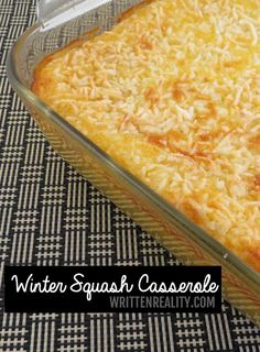 Winter Squash Casserole + More Thanksgiving Casserole Side Dishes!
