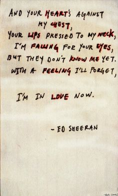 ed sheeran - kiss me...Wedding night theme song ;)