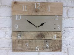 Country Grey Pallet Clock