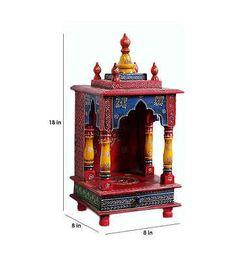 Wooden Hindu Temple Mandir Embossed Painting Pooja Ghar Home Office Art VE540