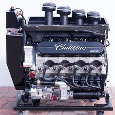 Cadillac finished overall at the Rolex 24 Hours of Daytona. Here's a look at the engine that powered those prototype cars. Hemi Engine, Car Engine, Chevy Motors, 24 Hours Of Daytona, Automotive Engineering, Mechanical Art, Performance Engines, Classic Hot Rod, Race Engines