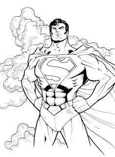 Superman Hero To All Coloring Pages - Super Hero Coloring Pages : KidsDrawing – Free Coloring Pages Online