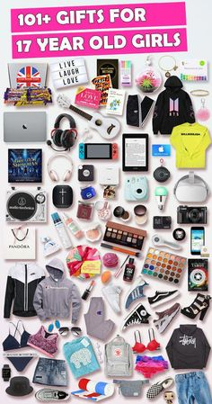 See over 101 gifts for 17 year old girls! Find the top birthday and Christmas gifts that 17 year old girls will love. Shopping for a 17 year old girl just got a lot easier with our ultimate gift guide for 17 year old girls #diygiftsForGirls
