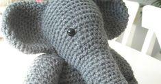 Haakpatroon olifant Martijn. Benodigdheden: Haaknaald 5.00 2 bollen grijze wol [zeeman] ...
