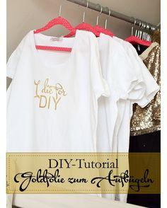 Kreativ für Creativa - DIY: goldige T-Shirts für die Messe - Decorize