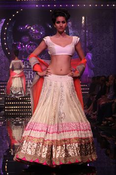 Multi-Colored Lengha    Lakme Fashion Week Winter Festive 2011. Designer: Manish Malhotra