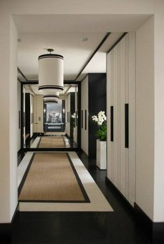 Hallway Ideas Modern Inspirational Carpet For The Hall 41 Designer Proposals Arte . Modern Interior, Interior Design, Interior Ideas, Art Deco, Beach House Decor, Home Decor, Fireplace Design, Modern Fireplace, White Rooms