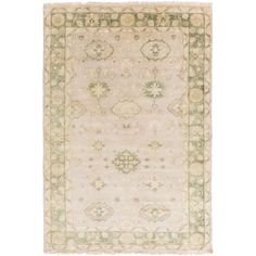 Antique Gray and Taupe Rectangular: 2 Ft x 3 Ft Rug