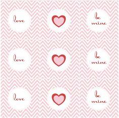 free modern chevron valentines day printables