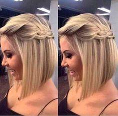 Resultado de imagem para penteado madrinha cabelo no ombro