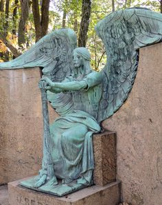 """The Angel of Death Victorious"" aka the Haserot Angel, Lake View Cemetery, Cleveland, OH"