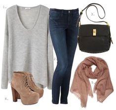 Джинсы, пожалуй, одна из самых популярных деталей гардероба современной женщины любого возраста и телосложения. Их главное преимущество – универсальность. Одни и те же джинсы в разных комплектах могут быть нарядными, повседневными, спортивными. Модное сочетание. Светло-голубые джинсы-скинни можно носить с вязаным кардиганом персикового цвета. Освежите этот ансамбль цветочными принтами на аксессуарах: снуде, сумке, бижютерии. Главное – …