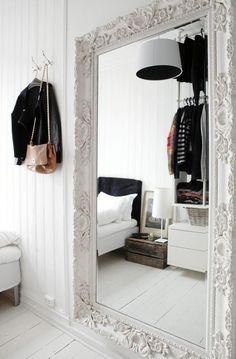 Indoor Winter Wonderland #decor #white #mirror #inspiration