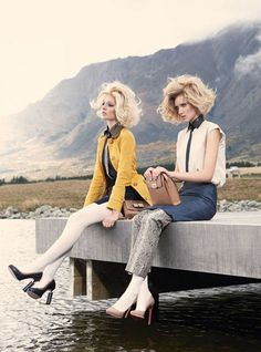 Vogue Australia - Hair by Daren Borthwick. Make up Linda Jefferyes Photographer Nicole Bentley Styling Meg Gray