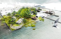 ©-DELVA-Landscape-Architects---Purifying-Park-de-Ceuvel---Phyoremediation---Buiksloterham---Amsterdam---Artist-impression-bird's-eye-view