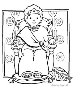 Boy King Coloring Page