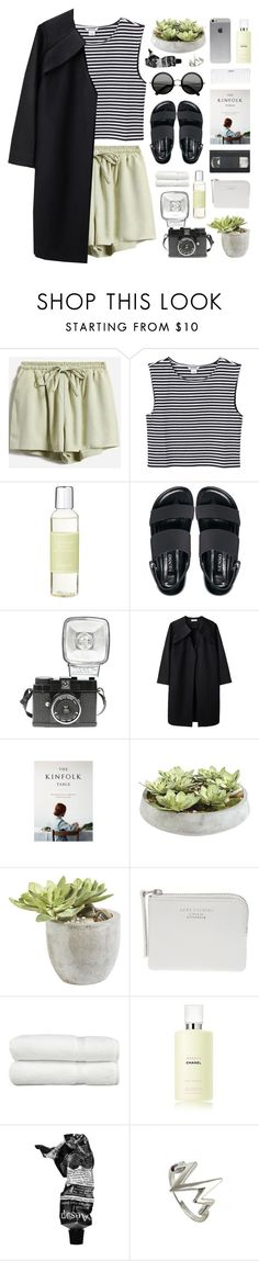 """""""running free"""" by martosaur ❤ liked on Polyvore featuring Monki, Senso, Lomography, A Détacher, Ethan Allen, The Webster, Linum Home Textiles, Chanel, Conair and Aesop"""