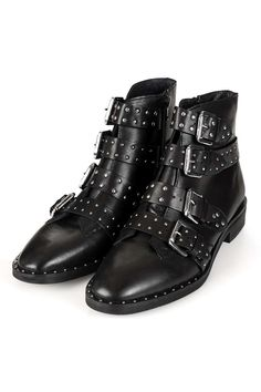 Topshop studded ankle boots