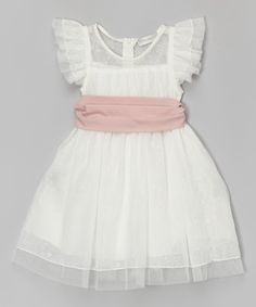 Look at this Trish Scully Child Ivory Lace Isabella Dress - Toddler & Girls on #zulily today!