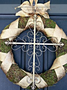 Willow House Inspired Cross Wreath..{ Tutorial } - Uncommon Designs...