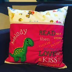 Reading cushions made as Christmas presents. #machineembroidery #presents Design by : www.kreativekiwiembroidery.co.nz Make Bunting, Christmas Presents, Machine Embroidery, Love You, Cushions, Throw Pillows, Sewing, Xmas Gifts, Te Amo