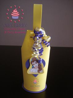 24 Large Princess Belle Candy Goodies by VeryberryParty on Etsy, $108.00