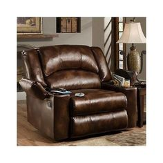 amazoncom simmons brown leather over sized massage reclining chair these recliner chairs are