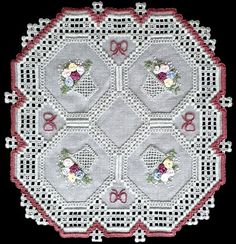 See the pretty Hardanger Pretty Baskets at Nordic Needle