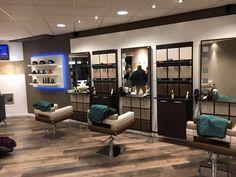 Modus styling chairs/ Modus styling units/ Modus reception desk. Salon Ideas from Ayala salon furniture. Modern salon design. #Salonideas