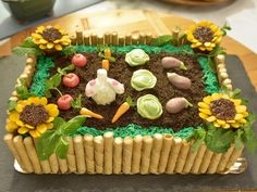 The Kitchen~Pass The Garden Cake Recipe, no reviews. Looks so adorable & so fun for kids at Easter and/or Spring!!