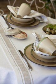Glass Cloth Table Runner - Natural