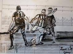ArtDia / Futbal II. Art, Drawings, Art Background, Kunst, Performing Arts, Art Education Resources, Artworks