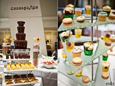 Chocolate Fountain, Macarons and Jelly Cups