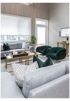 Living Room Green, Modern Room, Accent Chairs For Living Room, Living Room Chairs, Living Room Modern, Modern Classic Living Room, Living Room Grey, Gold Living Room, Living Decor
