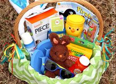 40 easter basket ideas and peeps giveaway basket ideas easter over 100 easter basket ideas for toddlers negle Choice Image